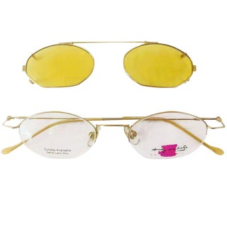 """Original Andy Warhol """"Water Colors"""" Eyeglasses with Sunclip"""