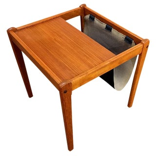 BDR Furbo Teak Magazine Rack End Table