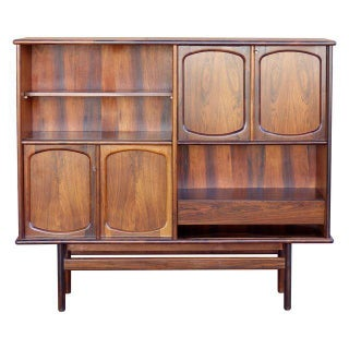 Rosewood Secretary Bookcase by Gerhard Berg Norway