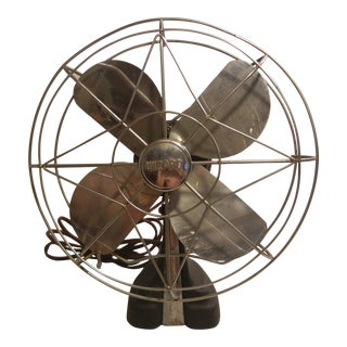 Vintage Wizard Art Deco Table Fan