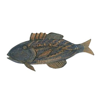 Image of Signed Pottery Fish Serving Dish/ Hanging