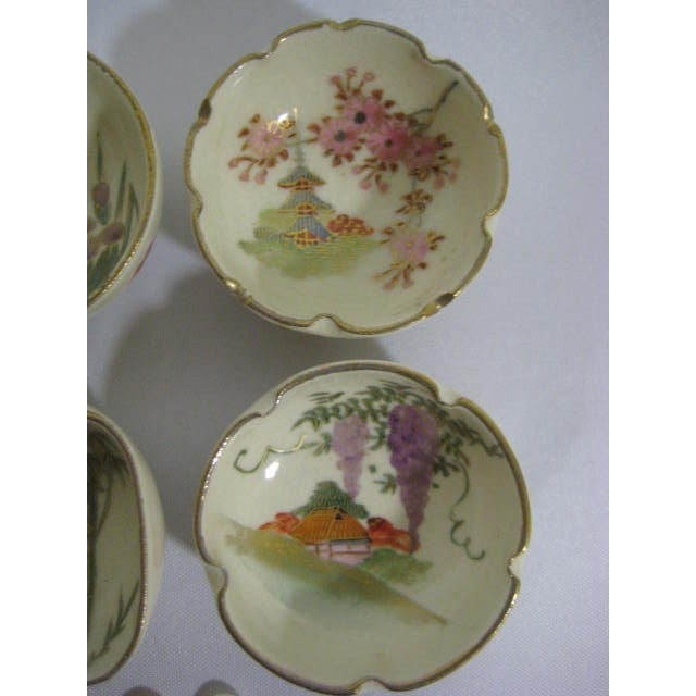 1900s Japanese Satsuma Open Salt Cellars/Dips - Image 5 of 10