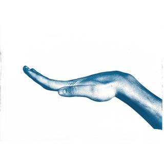 Bent Hand Cyanotype Print
