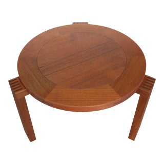 Vintage Mid-Century Modern Teak & Rosewood Side Table