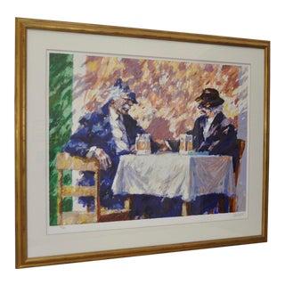 """Aldo Luongo """"Amigos"""" Limited Edition Serigraph c.1991"""