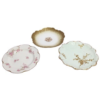French Limoge Plates - Set of 3