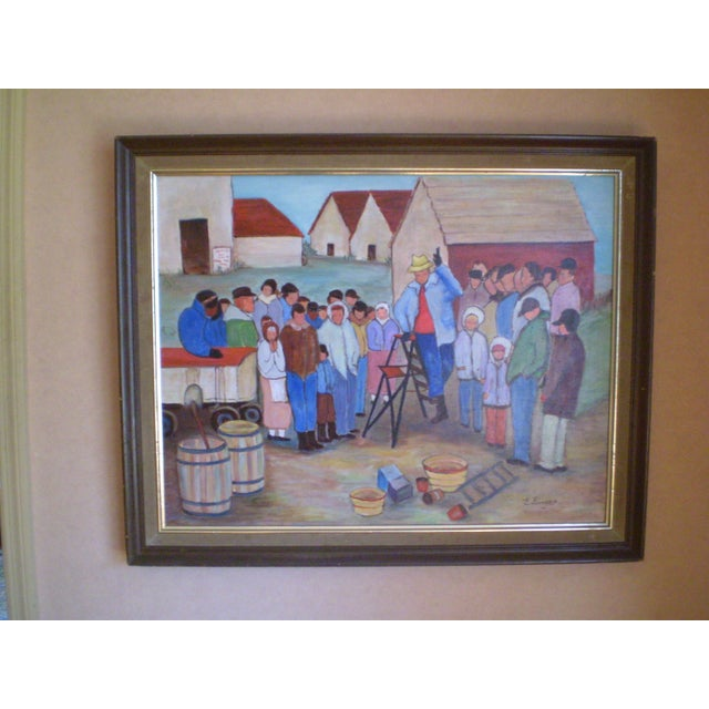 """""""The Farm Wake,"""" Painting by Evelyn Singer - Image 2 of 3"""