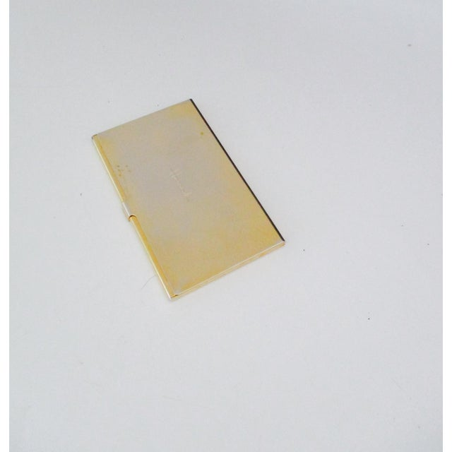 Harrods London Gold Compact Business Card Case - Image 4 of 8