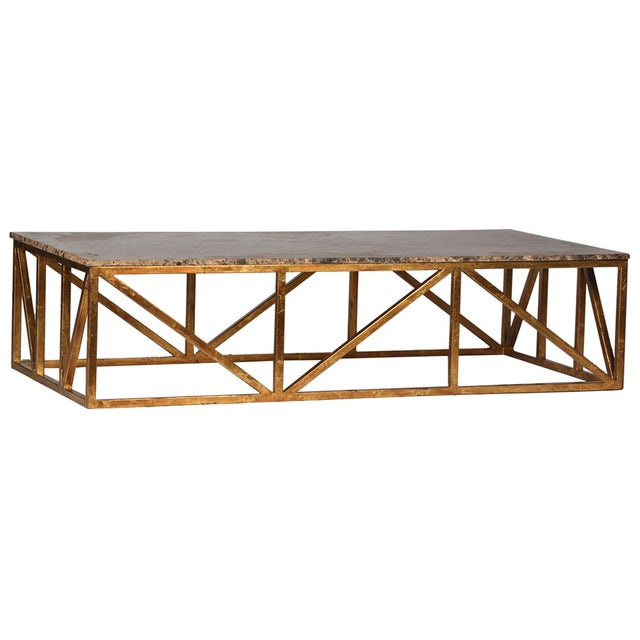 Brown Marble Top Coffee Table