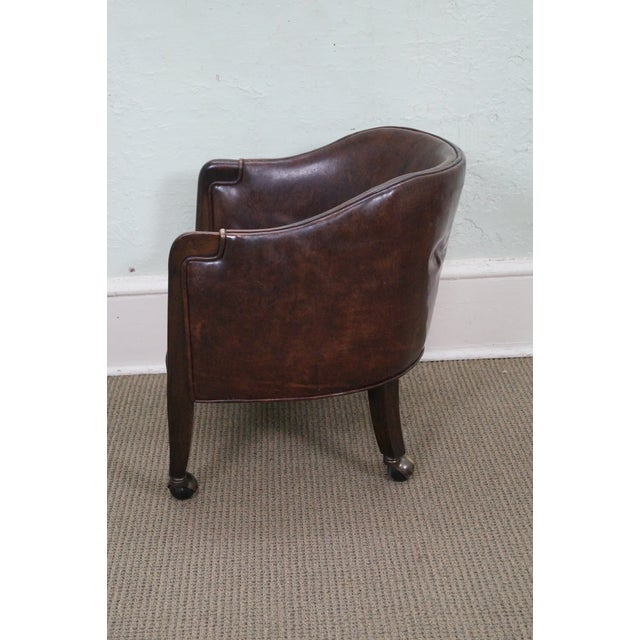 Widdicomb Small Barrel Back Leather Club Chair - Image 3 of 10