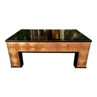 Antique Art Deco Architectural Copper Coffee Table