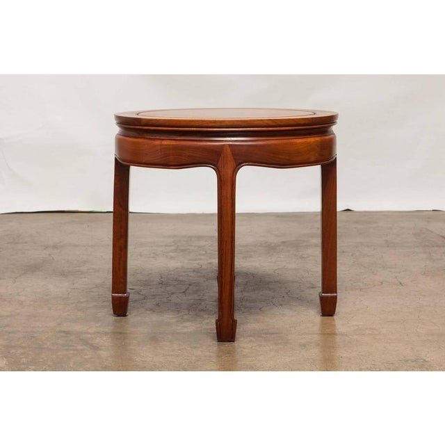 Chinese Ming Style Hardwood Round Side Table Chairish