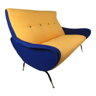 Italian Modern Zanuso-Style Sofa