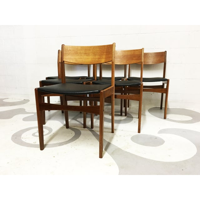 Mid-Century Poul Volther Teak Chairs - Set of 6 - Image 5 of 6