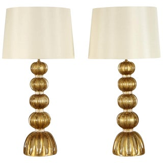 Pair of Murano Glass Lamps