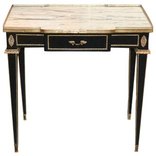 Fine Jansen Black Lacquered Side Table