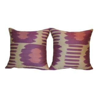 Fabric Ikat Pillows - A Pair