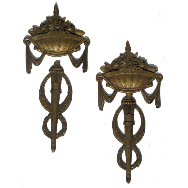 French Napoleonic Bronze Hardware - A Pair - Image 1 of 2