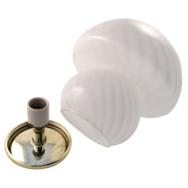 Image of Vistosi Vintage White Murano Glass Table Lamp