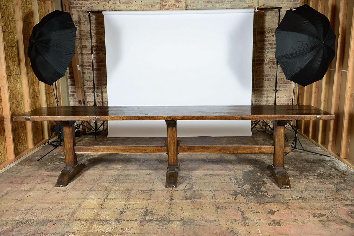Antique Spanish Dining Trestle Table   Image 2 Of 9