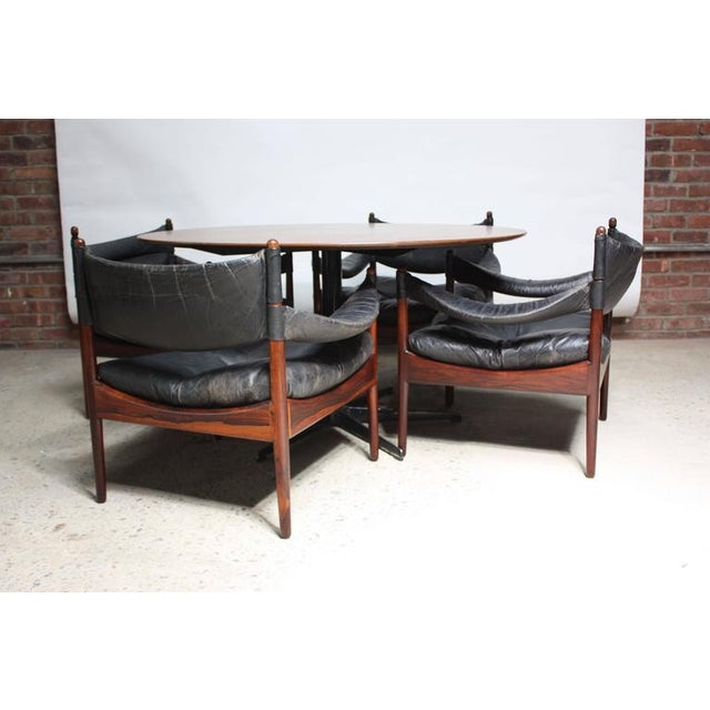 Set of Four Kristian Solmer Vedel 'Modus' Rosewood Lounge Chairs - Image 10 of 10