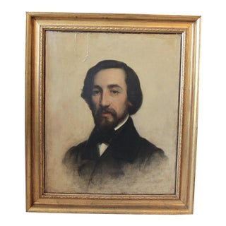Alfred De Musset Portrait Painting