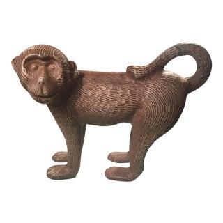 Vintage Pottery Monkey Figurine