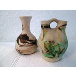 Image of Nemadji Swirl Pottery Vessels - a Pair