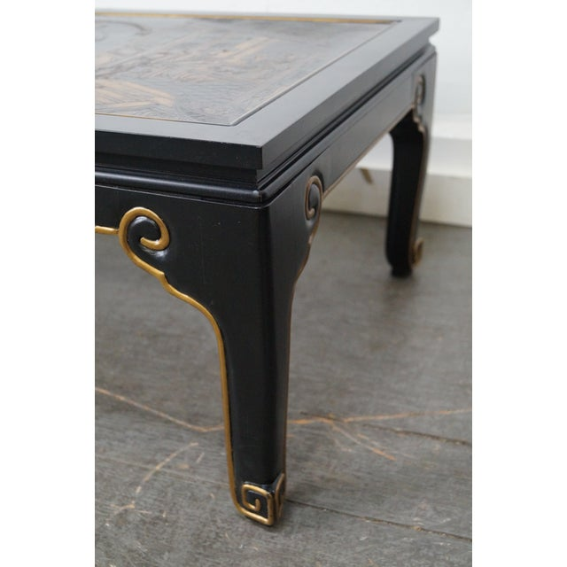 Image of Kindel Chinoiserie Painted Ebonized Coffee Table