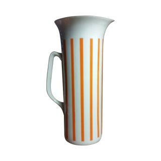 Orange Mid-Century Schmid Lagardo Tackett Pitcher