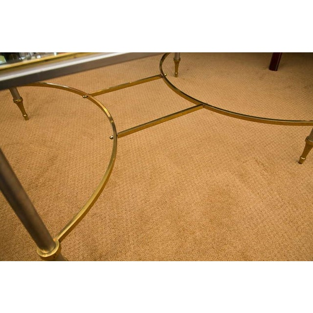 Image of Mid-Century Chrome & Brass Cocktail Table