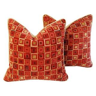 Custom Cowtan & Tout Kaleidoscope Pillows - Pair