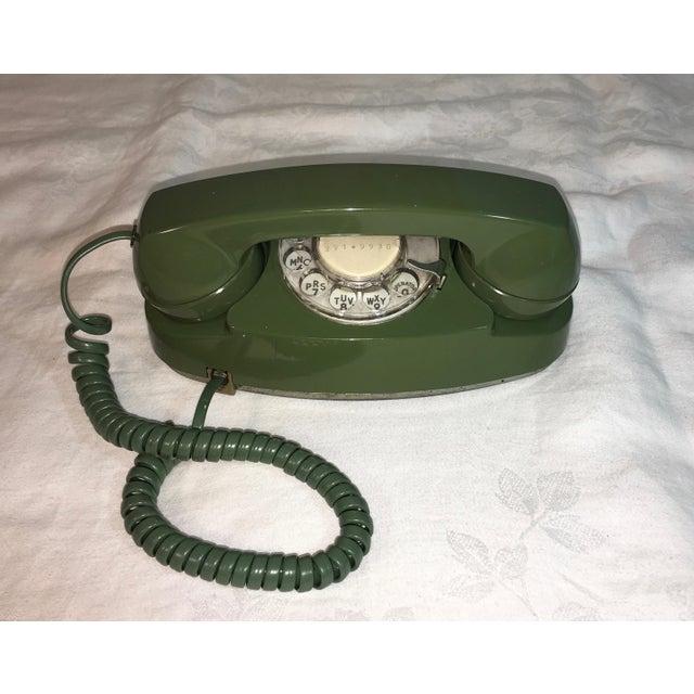 Image of Vintage Pea Green Rotary Princess Phone