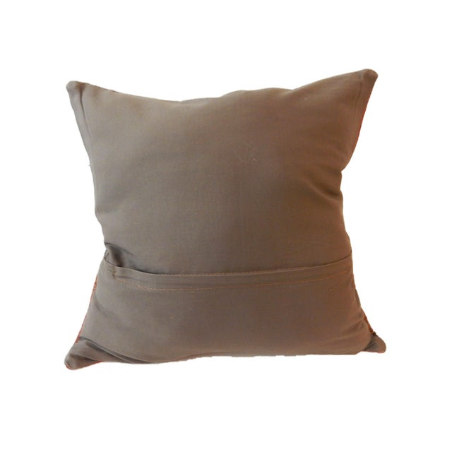 Old Caucasian Tribal Kilim Pillow - Image 6 of 9