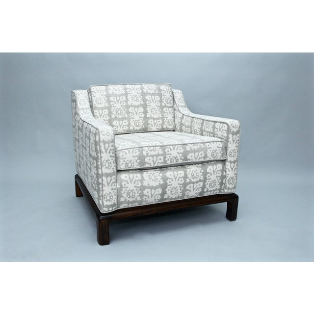 Image of Gray Upholstered Mid Century Chair