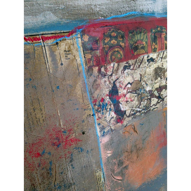 Abstract Painting with Bayeaux Tapestry Image - Image 3 of 4