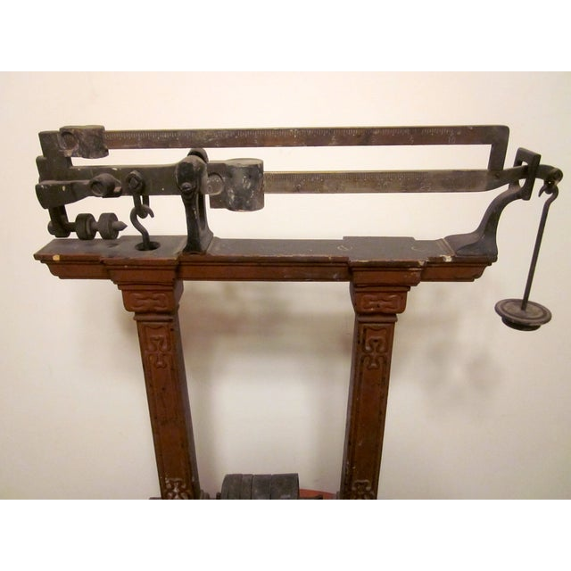 Antique Industrial Brass Scale Steampunk Decor - Image 6 of 9