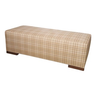 Occasional Gingham Upholstered Bench