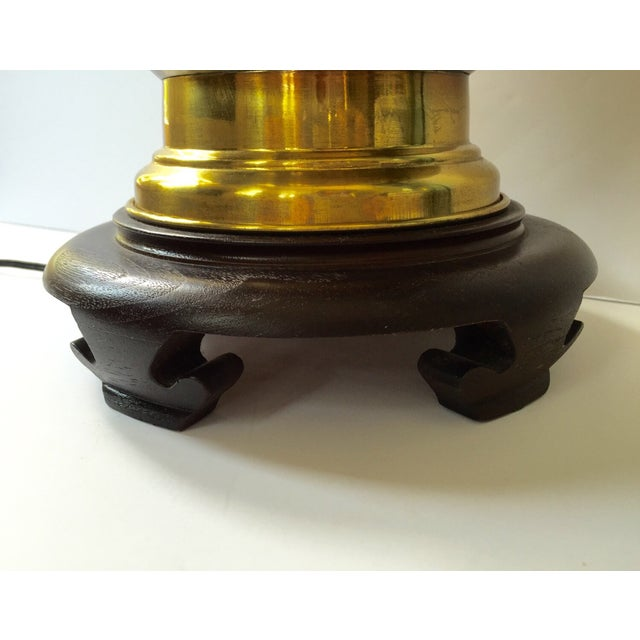 Image of Vintage Brass Urn Lamp With Dragon Faces