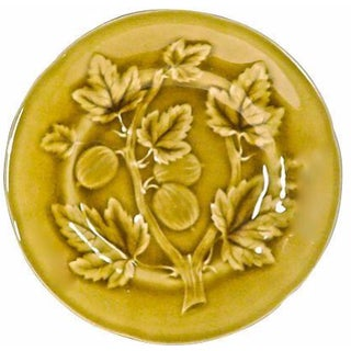 French Choisy Le Roi Majolica Gooseberry Plate