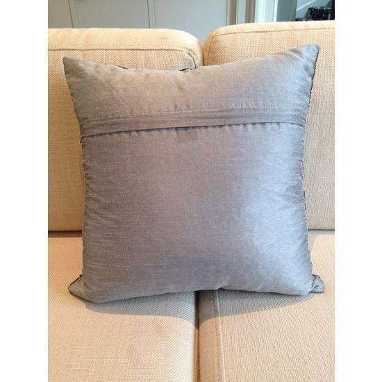 Silver Beaded Decorative Pillow : Silver Square Beaded Decorative Pillow Chairish