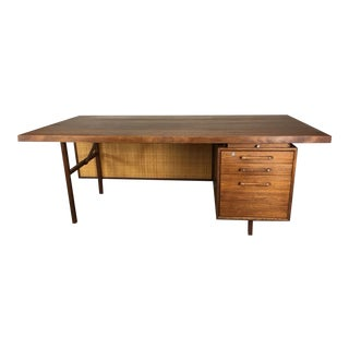Large Walnut Executive Desk