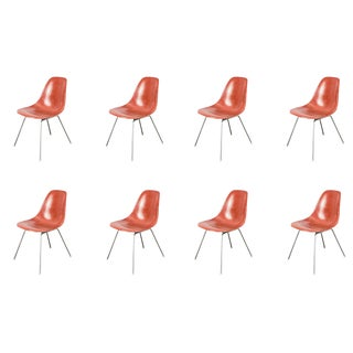 1960s Eames Terracotta Fiberglass Shell Chair