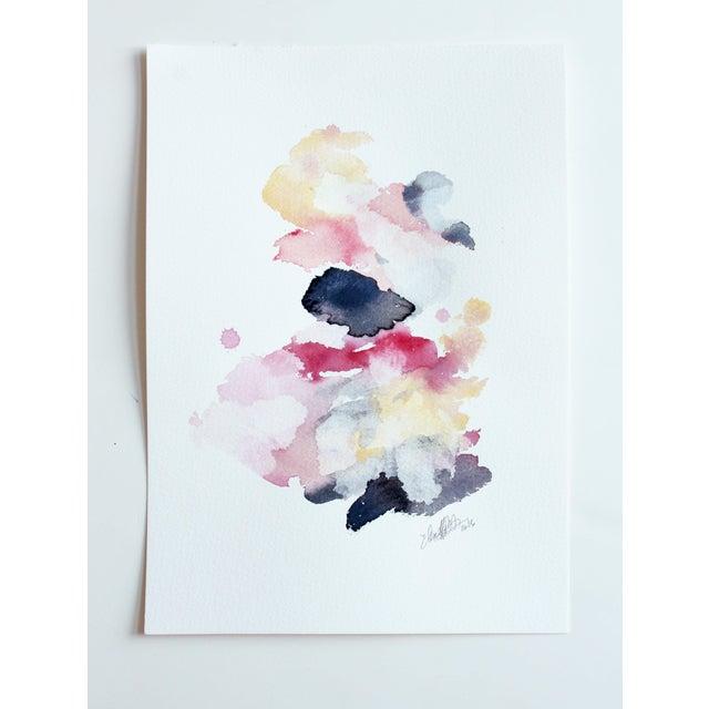 "Ellen Sherman ""Color Study 3"" Watercolor Painting - Image 2 of 4"