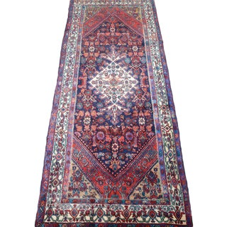 Hand Knotted Persian Mahal Runner - 3′10″ × 10′4″