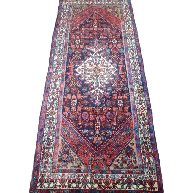 Hand Knotted Persian Mahal Runner - 3′10″ × 10′4″ - Image 1 of 11