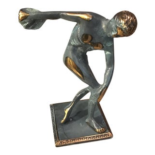 Ancient Greek Bronze Statue of Discus Thrower of Myron Olympics
