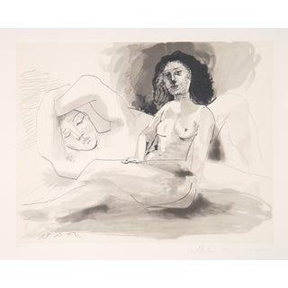 Pablo Picasso Lithograph - Homme Et Femme Assise