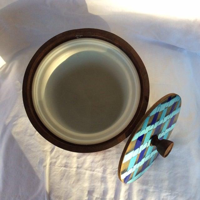 Image of Vintage Kraftware Wooden Ice Bucket