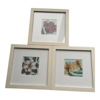 Framed Floral Prints - Set of 3